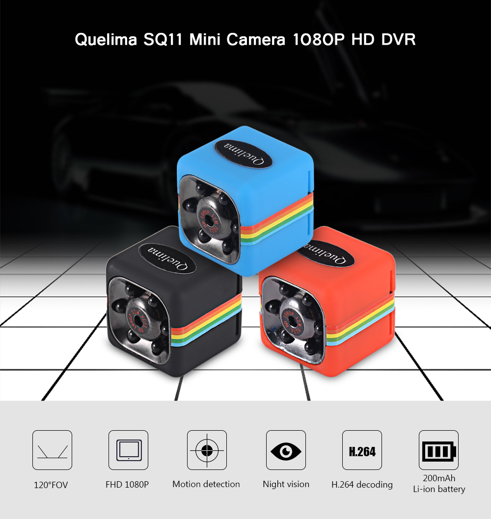 Quelima SQ11 Mini Camera 1080P DVR