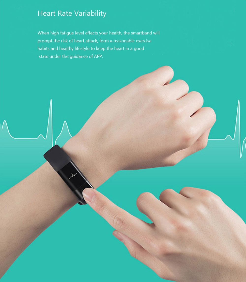 Original Xiaomi Huami AMAZFIT Smartband Fitness Tracker IP67 Waterproof Bluetooth 4.0 Pedometer Sleep / Heart Rate / HRV Fatigue Monitor