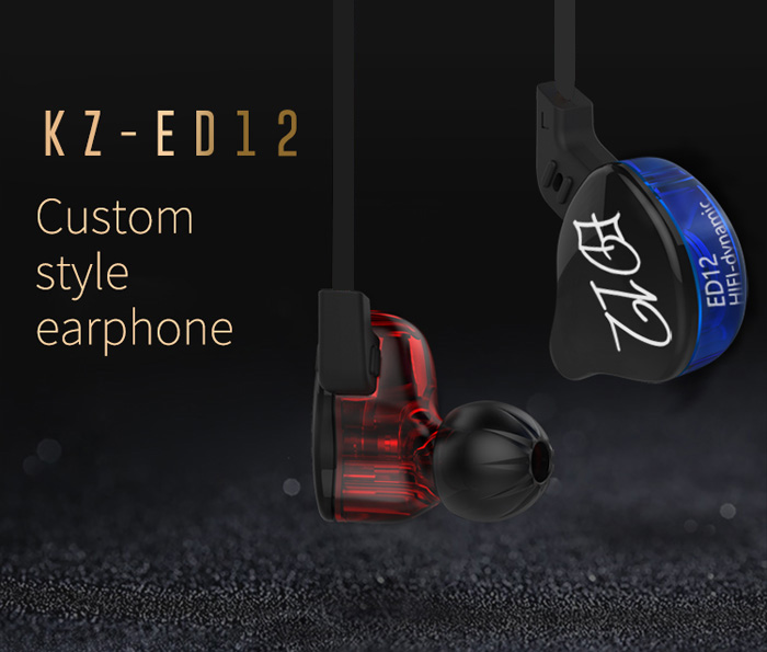 KZ ED12 HiFi Music Sport In-ear Earphones Noise Reduction On-cord Control