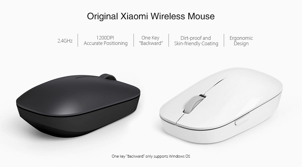 Original Xiaomi 1200DPI 2.4GHz Wireless Mouse- Black