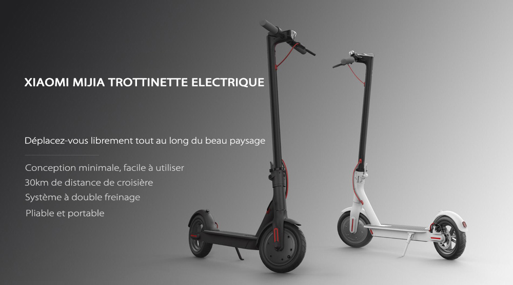 gearbest fr original xiaomi m365 trottinette electrique. Black Bedroom Furniture Sets. Home Design Ideas