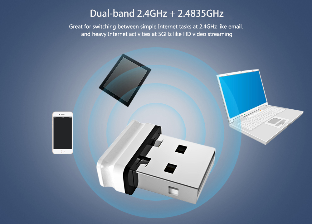Comfast WU810N 150Mbps USB Wireless WiFi Network Card Adapter