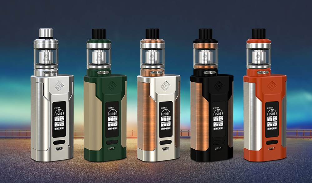 Original WISMEC PREDATOR 228 Kit with 1 - 228W / 200 - 600F / 100 - 315C / 4.9ml Clearomizer for E Cigarette