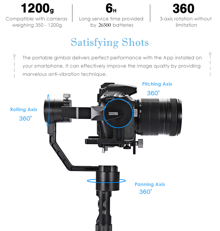 Zhiyun Crane 3-axis design