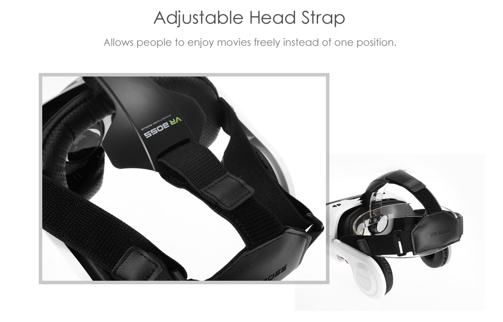 3D 360 Degree Virtual Reality Helmet Glasses for 4.7 - 6.2 inch Smartphone