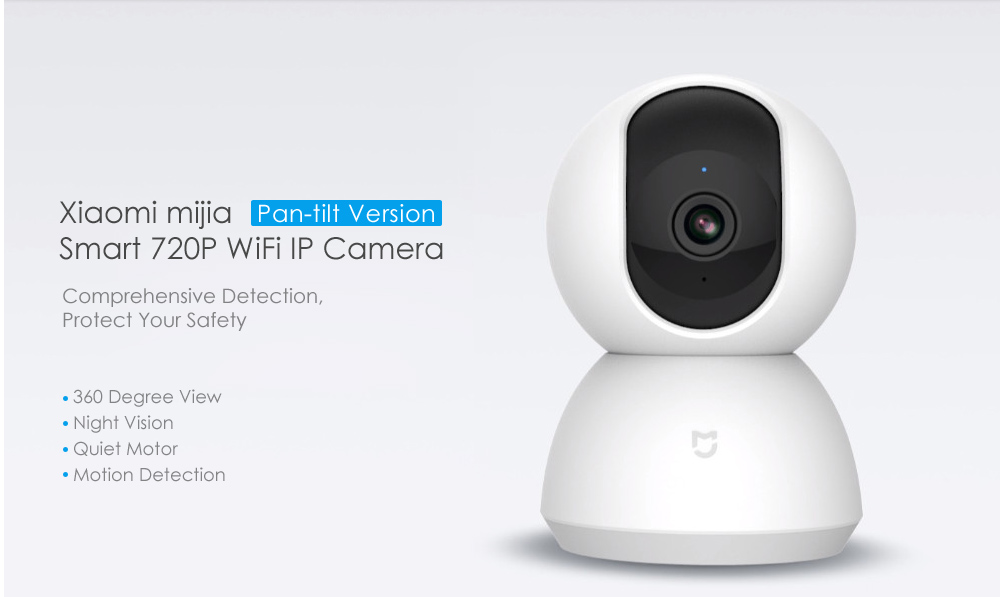 Xiaomi Mijia Smart 720P WiFi IP Camera Pan Tilt Version Night Vision 360 Degree