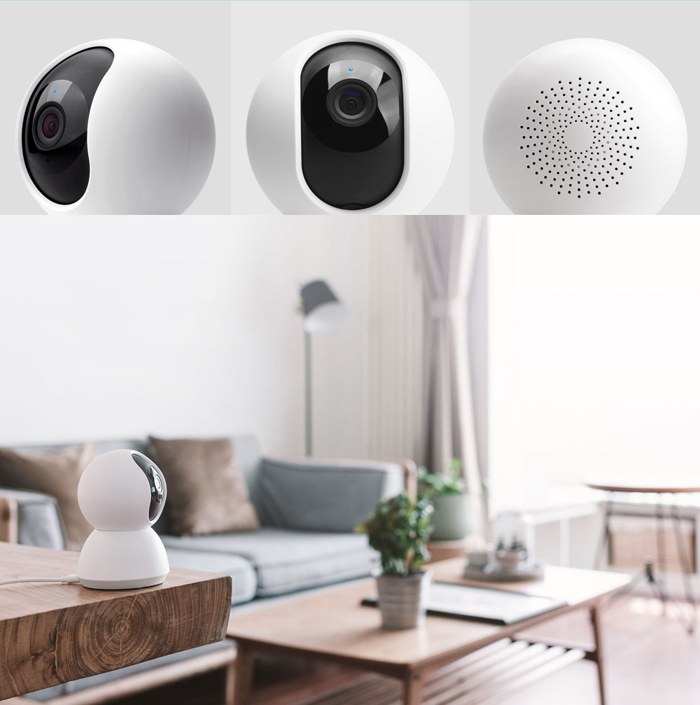 Xiaomi mijia Smart 720P WiFi IP Camera Pan-tilt Version Night Vision / 360 Degree View- White
