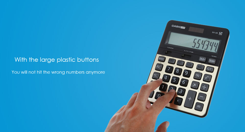 CASIO DS - 2B 12 Digit LCD Display Electronic Calculator - $29.04 ...