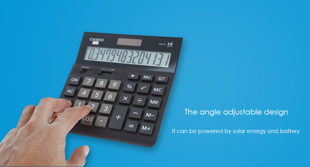 CASIO DH - 14 - BK 14 Digit LCD Display Electronic Calculator ...