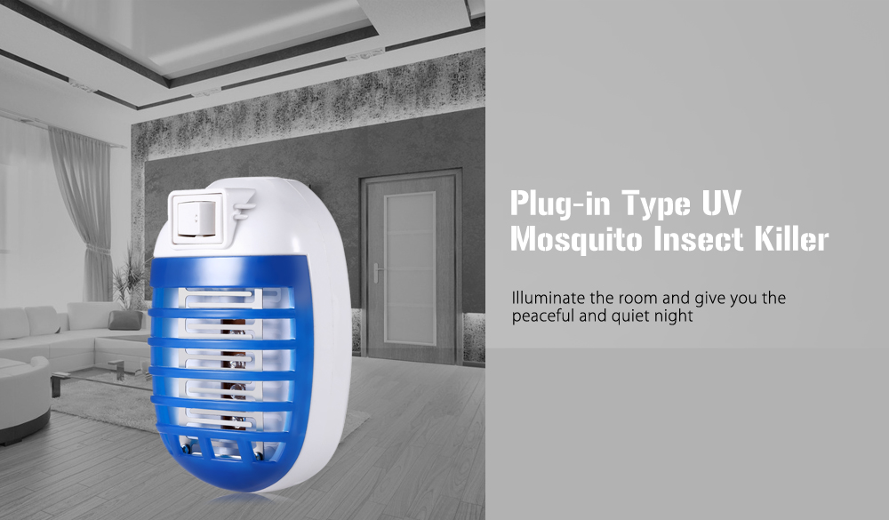 US Plug Plug-in Type Ultraviolet Light Mosquito Insect Killer Bug Zapper