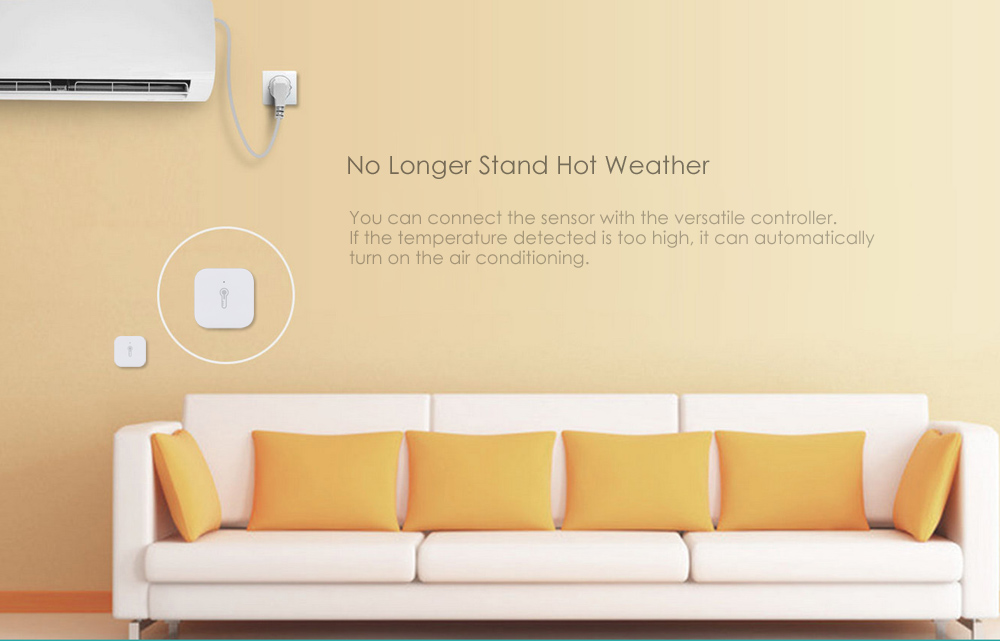 Aqara WSDCGQ11LM Temperature Humidity Sensor Smart Home Device ( Xiaomi Ecosysterm Product )- Milk white