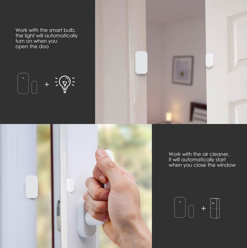 Aqara Smart Window Door Sensor Intelligent Home Security Equipment with ZigBee Wireless Connection