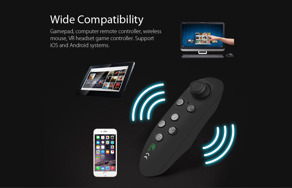 VR-PARK Portable Wireless Bluetooth 3 0 Remote Controller