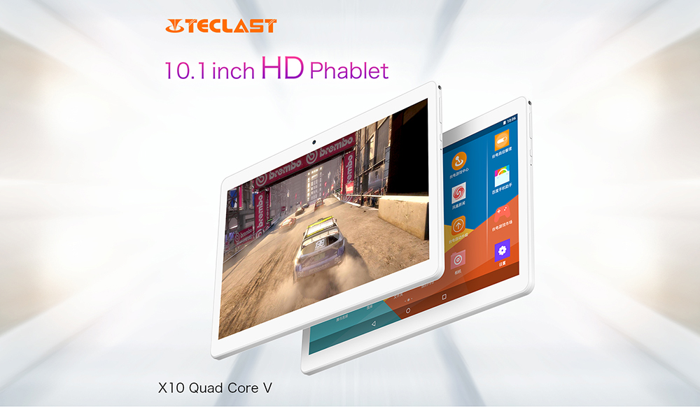 Teclast X10 Quad Core 10.1 inch 3G Phablet Android 6.0 MT6580 1.3GHz 1GB RAM 16GB ROM OTG