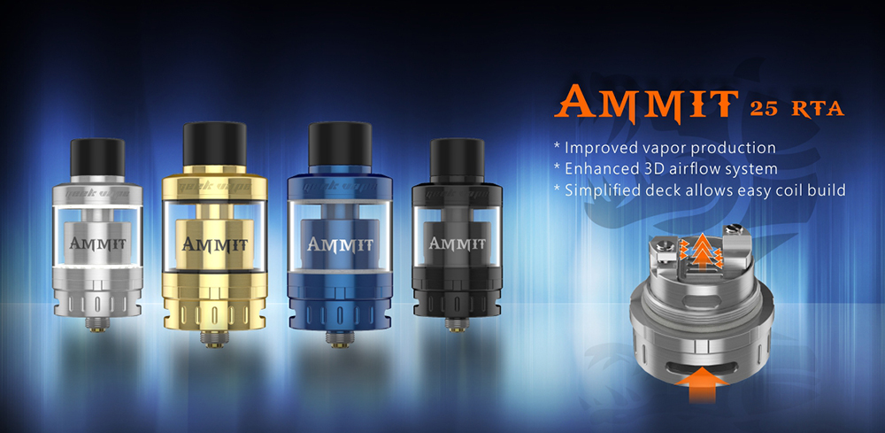 The Geekvape AMMIT 25 Atomizer with Bottom Airflow / 2ml / 5ml for E Cigarette