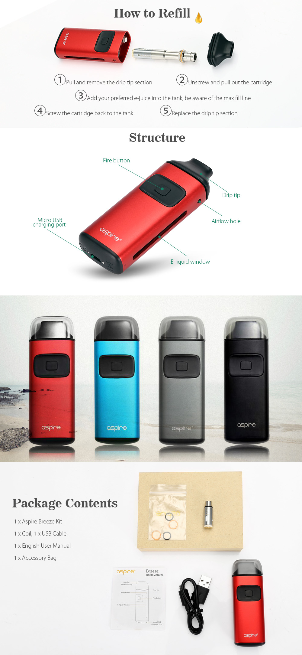 Original Aspire Breeze Kit 650mAh