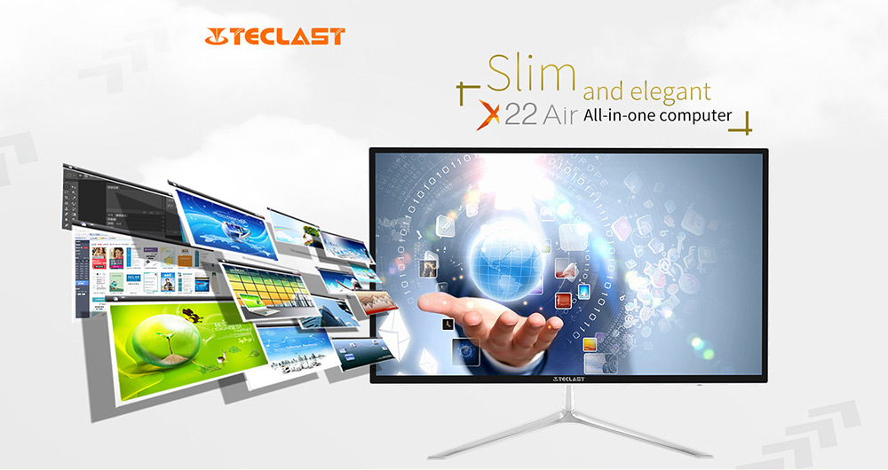 Teclast X22 Air All-in-one PC Desktop 21.5 inch DOS Intel Celeron J3160 Quad Core 1.6GHz 4GB RAM 1TB HDD HDMI
