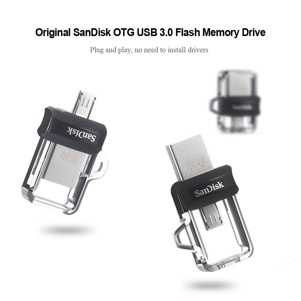 Original Sandisk Otg Usb 30 Flash Memory Drive 2563 Free 16gb Ultra Dual Grey Ori U Stick Colormix 64gb