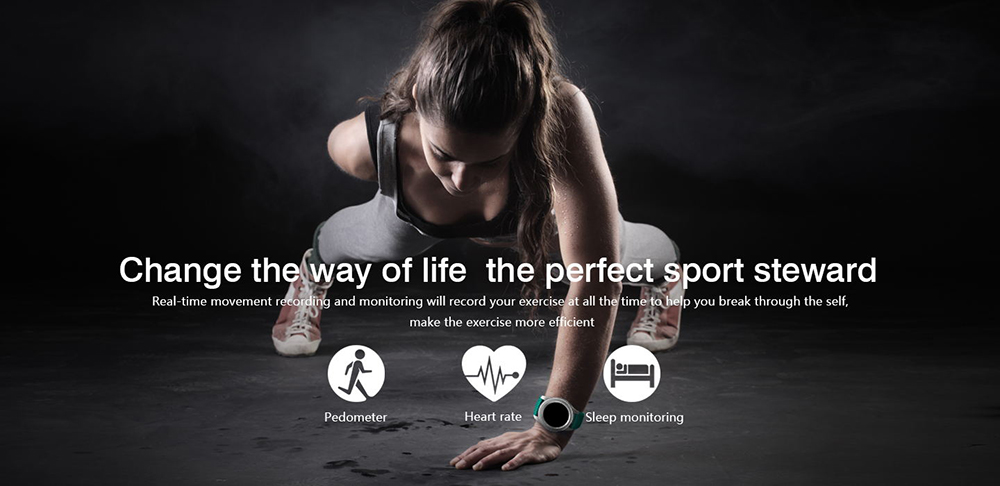 NO.1 G8 Smartwatch Phone 1.2 inch Bluetooth 4.0 Heart Rate / Blood Pressure Monitor Remote Camera Pedometer