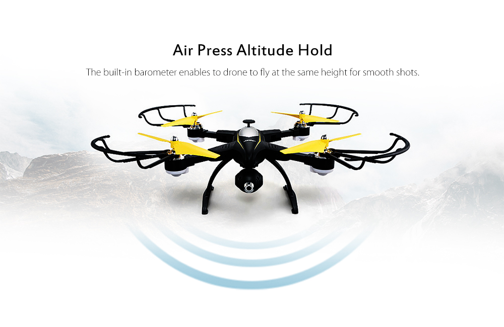 JJRC H39WH CYGNUS Foldable RC Drone RTF WiFi FPV 720P HD / Air Press Altitude Hold / Headless Mode