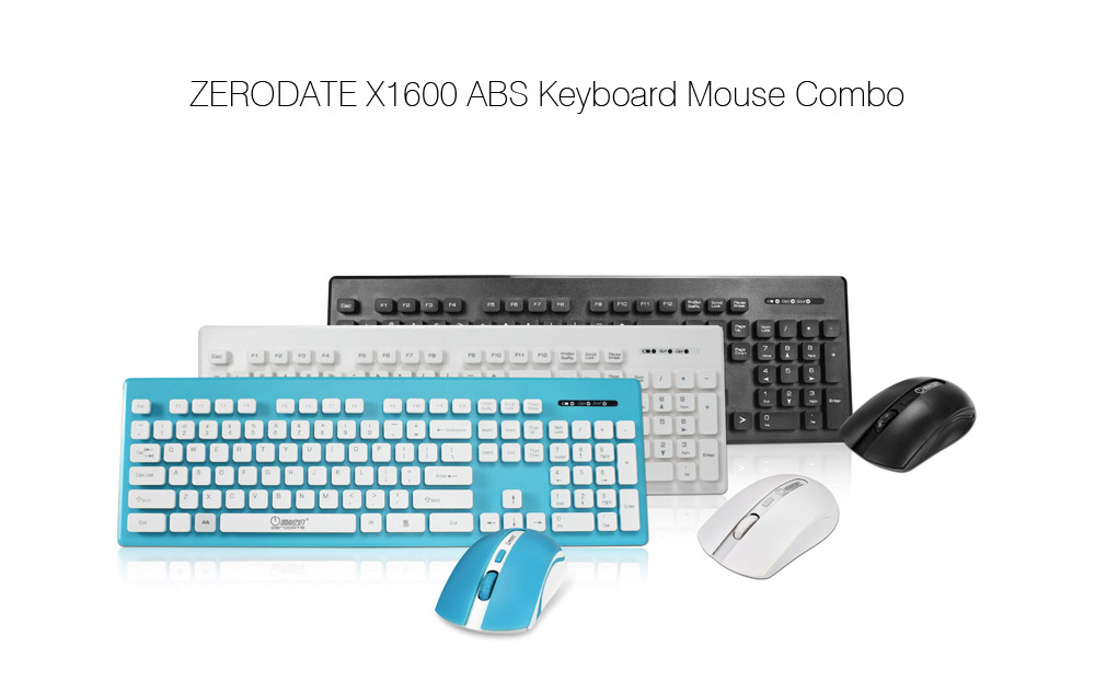 ZERODATE X1600 Keyboard Mouse Combo with LED Backlit- Black