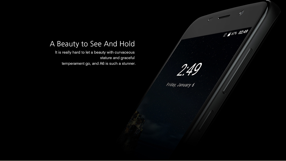 UHANS A6 3G Phablet 5.5 inch Full Lamination Screen Android 7.0 MTK6580 Quad Core 1.3GHz 2GB RAM 16GB ROM Fingerprint Scanner