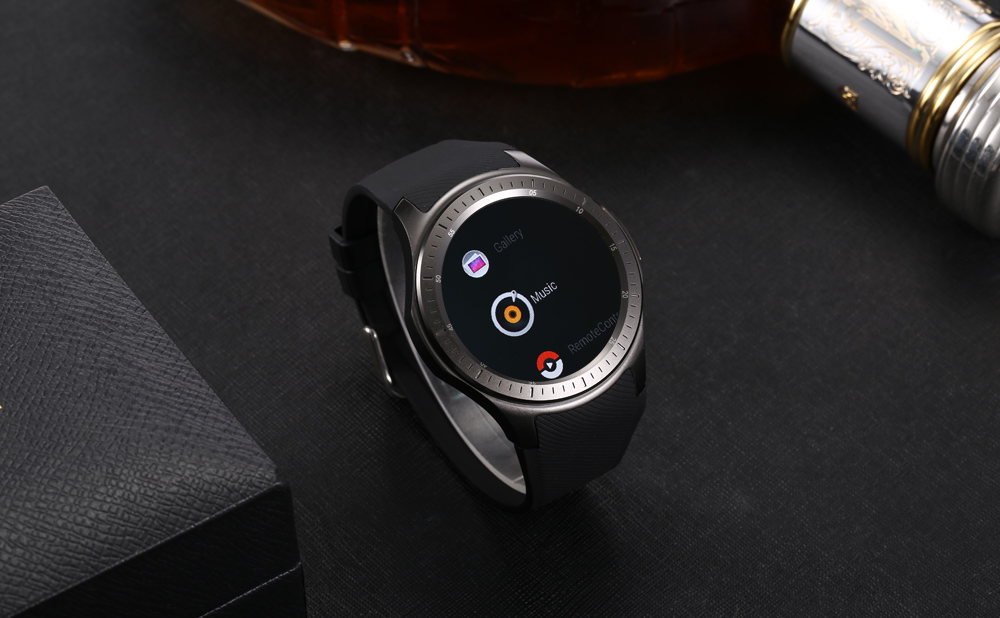 DOMINO DM368 Plus 3G Smartwatch Phone 1.39 inch Android 5.1 MTK6580 Quad Core 1.0GHz 1GB RAM 16GB ROM Pedometer Heart Rate Bluetooth GPS
