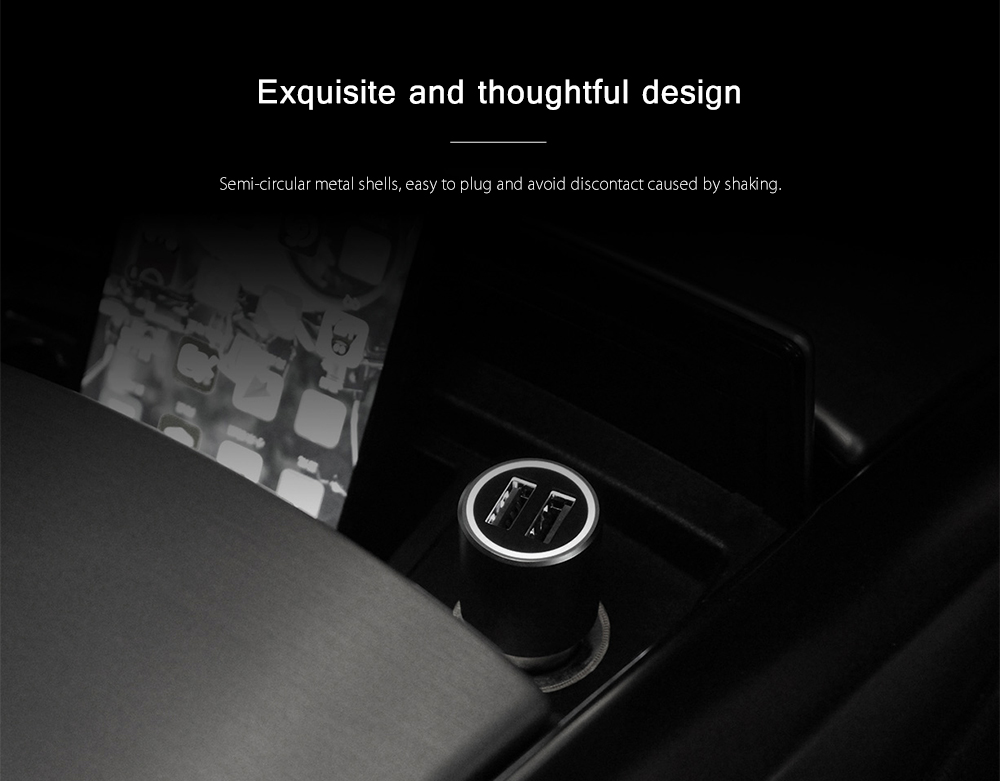 Original Xiaomi Intelligent Car Charger - Fast Charge Version- Gray