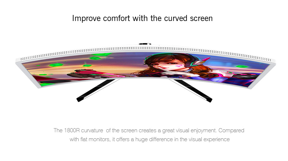 HKC C4000 23.6 inch R1800 Curved Screen Display Computer Monitor