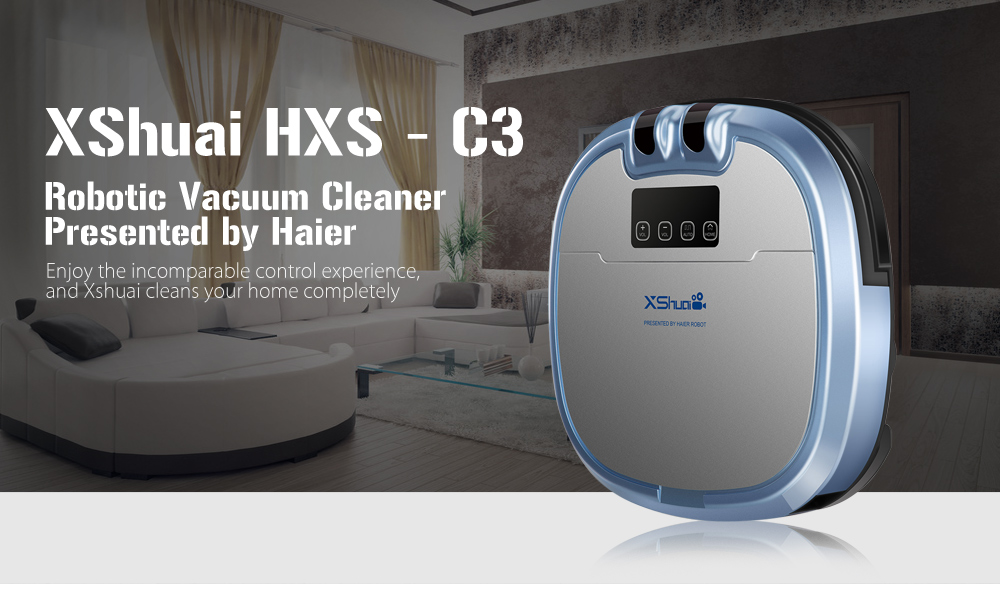XShuai HXS - C3 Robotic Vacuum Cleaner Automatic Remote Control Cleaning Robot with Camera for Pet Dog Cat Hair