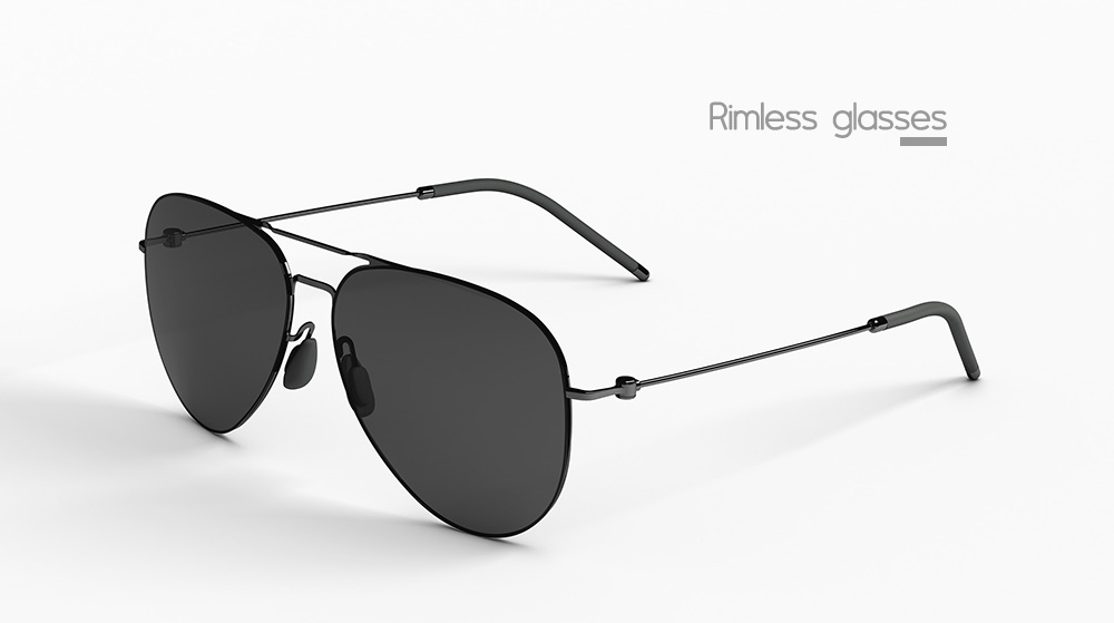 Xiaomi Unisex Anti-UV Polarized Sunglasses- Gun Metal Frame + Grey Lens