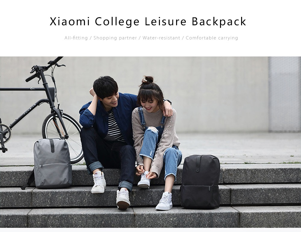 Xiaomi 20L Polyester College Leisure Backpack 15.6 inch Laptop Bag- Blue