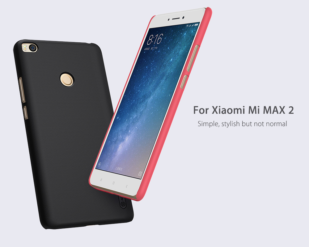Nillkin Frosted PC Hard Protective Cover Case with Screen Film for Xiaomi Mi MAX 2-