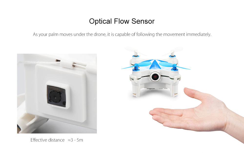 CHEERSON CX - OF Micro RC Selfie Drone WiFi FPV 0.3MP Camera / Optical Flow Sensor / Dance Programming