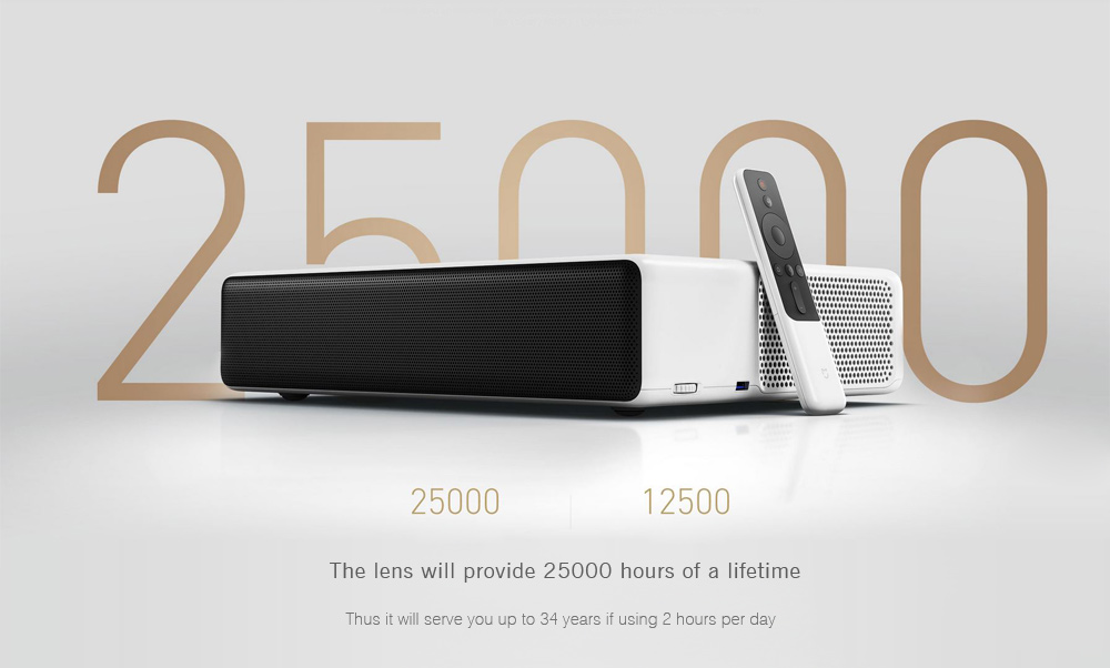 Xiaomi Mi Ultra Short throw Laser Projector with $720 OFF! Buy this 5000 ANSI Lumens Laser Projector now