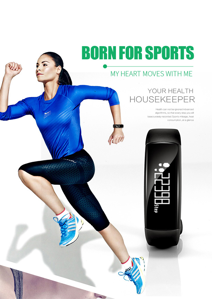 M88 IP67 Waterproof Smart Fitness Tracker Bluetooth 4.0 Android iOS Compatible