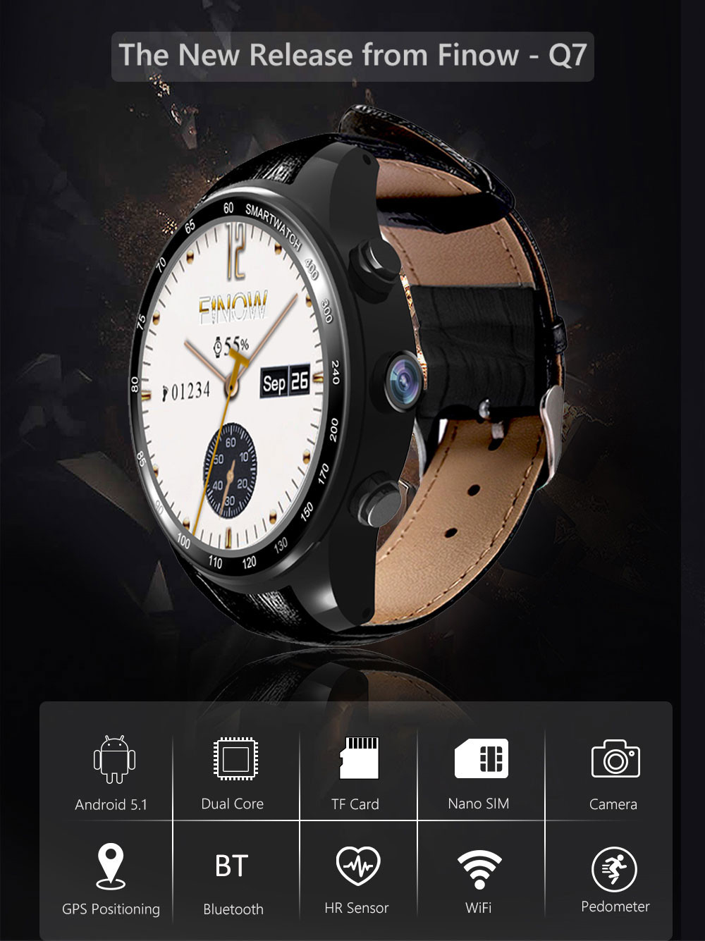 FINOW Q7 3G Smartwatch Phone