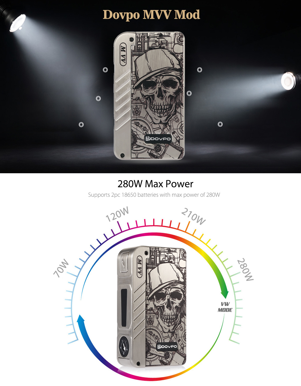 Dovpo M VV Box Mod 280w Max Power Classic Edition