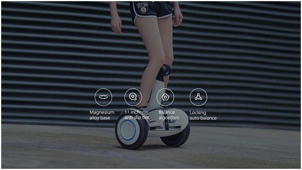 Xiaomi N4M340 Ninebot Plus Electric 11 inch 2-wheel Self Balancing Scooter- White