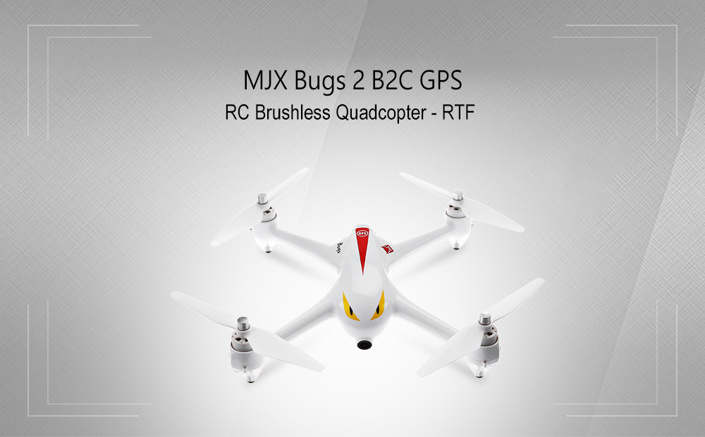 MJX Bugs 2 B2C Brushless RC Drone RTF 2MP Camera 1080P Full HD / GPS Positioning / 2.4GHz 4CH Dual-way Transmitter