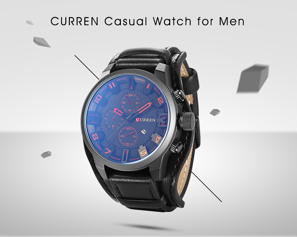 CURREN 8225 Casual Decorative Sub-dial Male Quartz Watch