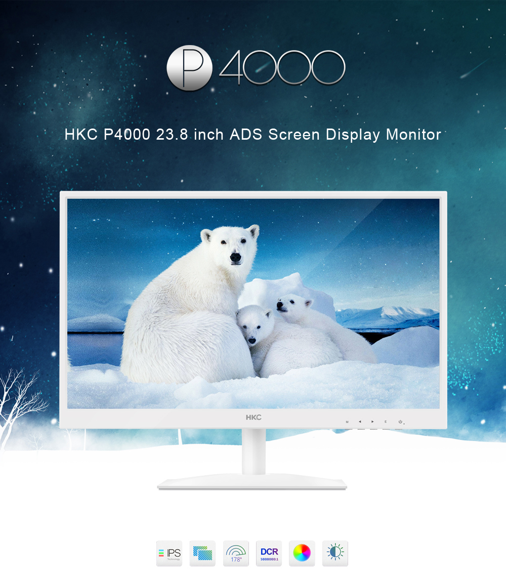 HKC P4000 23.8 inch ADS Screen Display Monitor