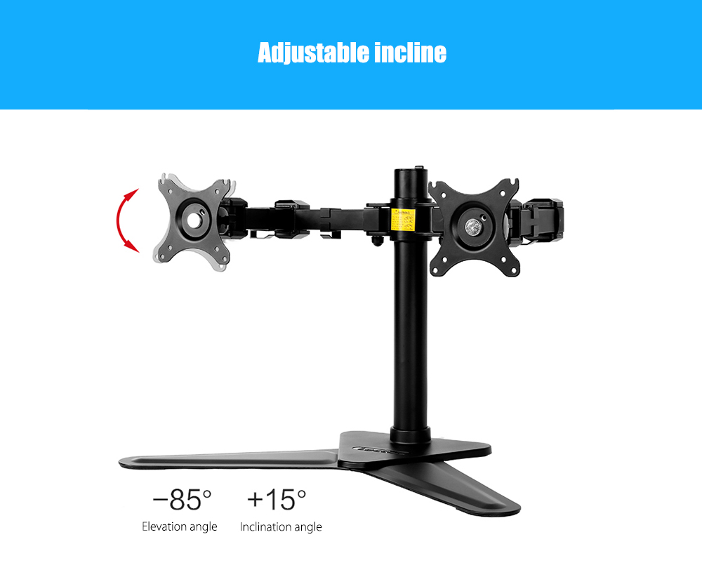 LOCTEK D2D 2-LCD Monitor Stand- Black