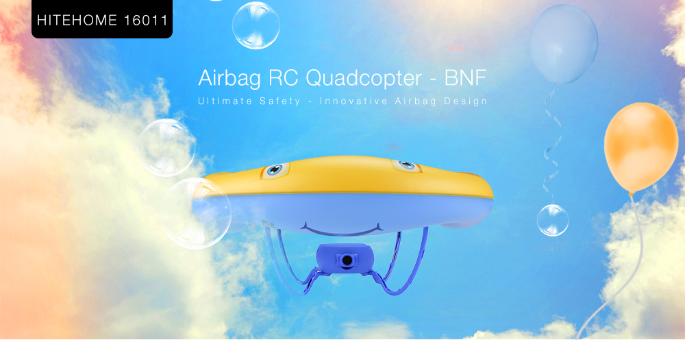 HITEHOME 16011 Airbag RC Drone BNF WiFi FPV 0.3MP Camera / Voice Control / G-sensor Mode