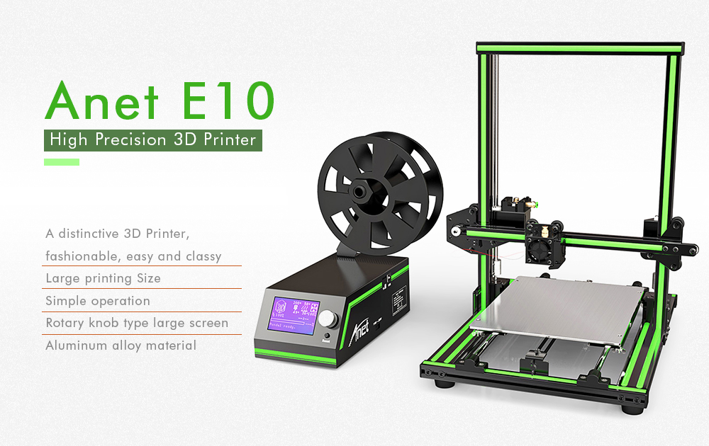 Anet E10 Aluminum Frame Multi-language 3D Printer DIY Set