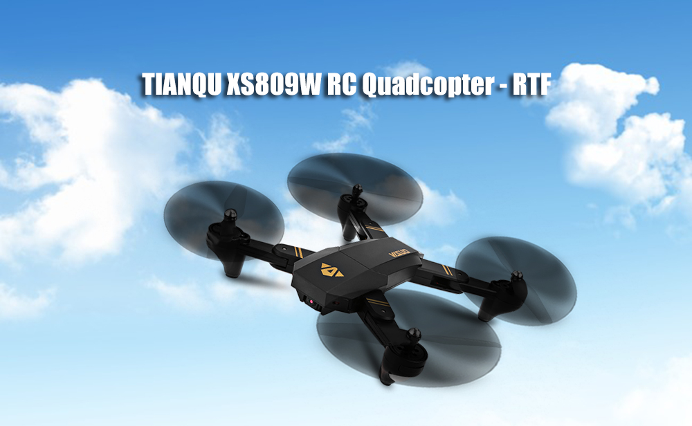 TIANQU XS809W Foldable RC Quadcopter RTF WiFi FPV / G-sensor Mode / One Key Return
