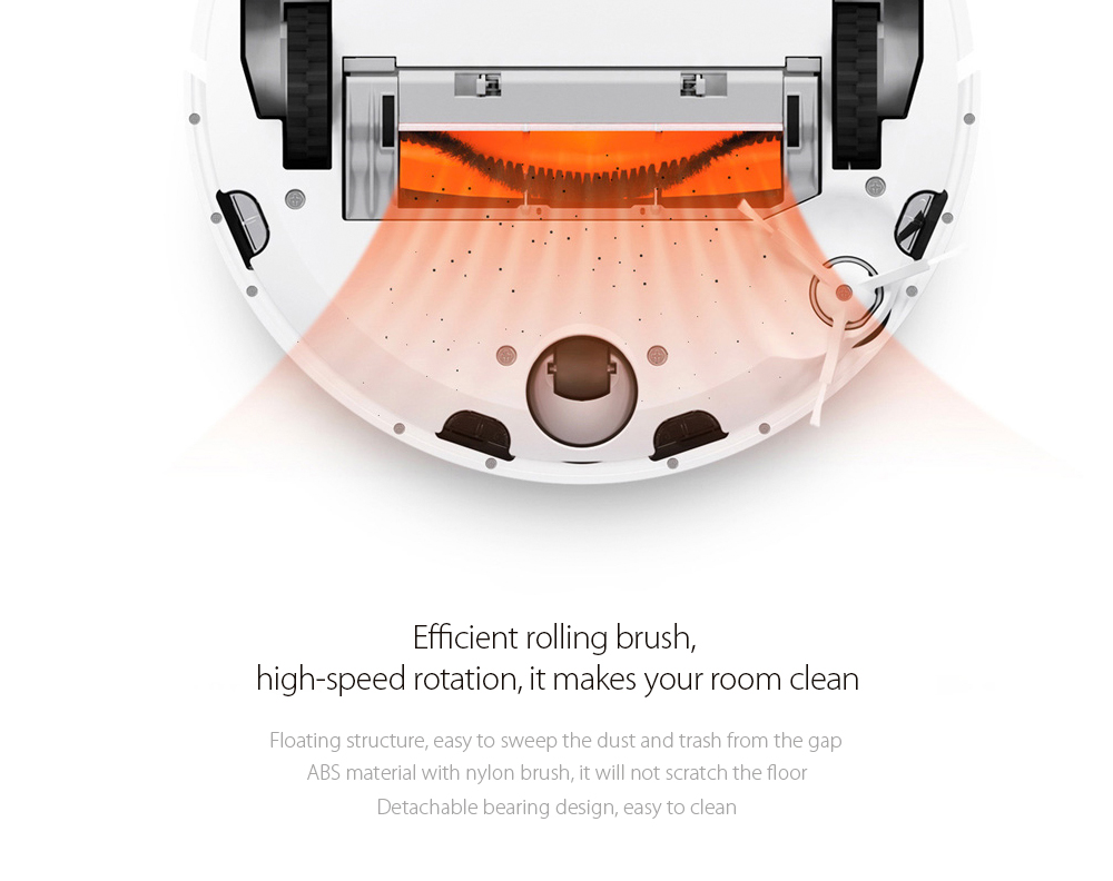 Invisible Wall Side Brushes Filter Rolling Brush and Cover for Xiaomi- Colormix