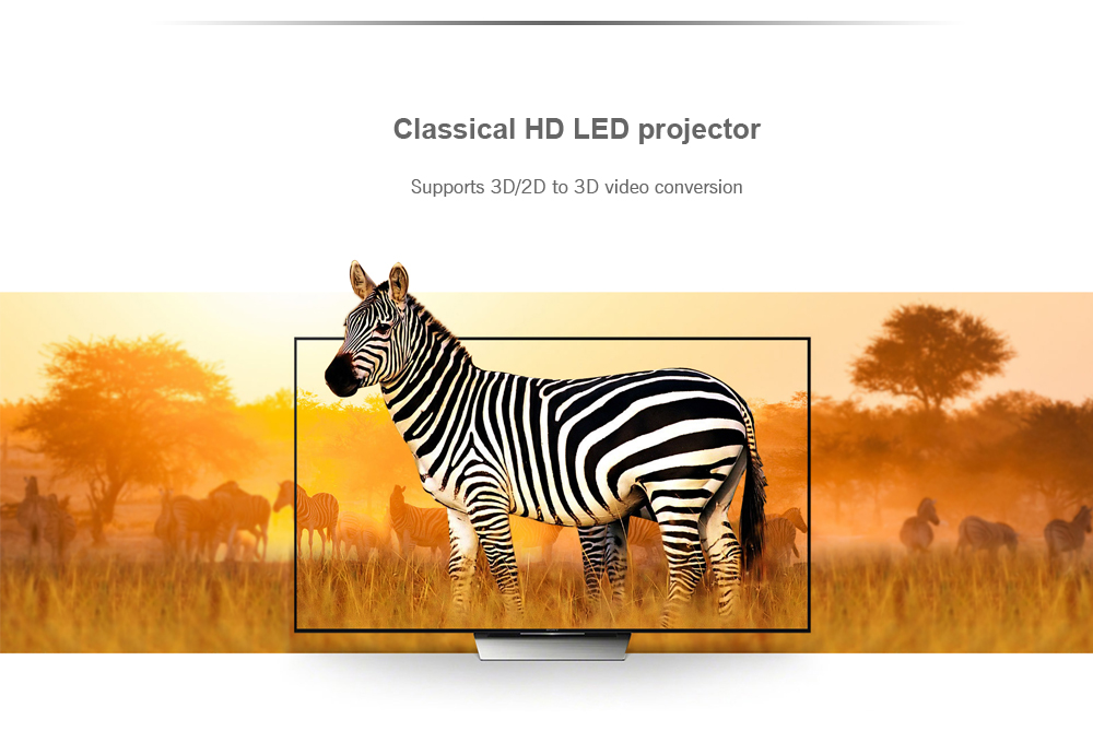Cheerlux CL760 LCD 3000 Lumens Projector Support 1080P- Black Without OS ( EU Plug )