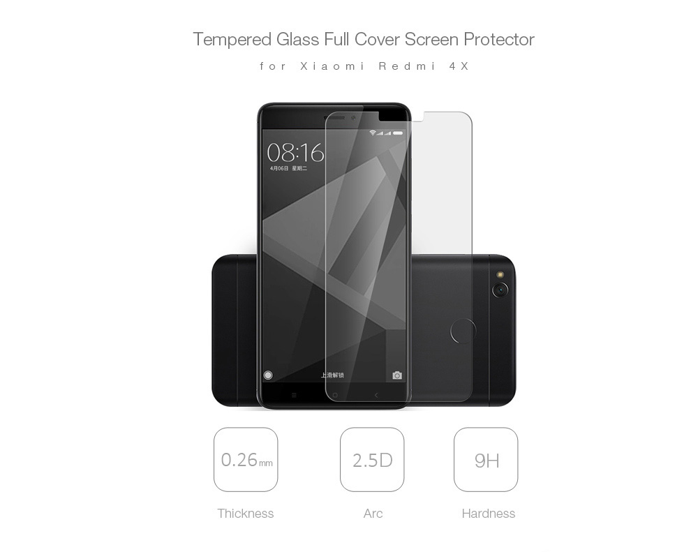 ASLING 2.5D Tempered Glass Screen Protector for Xiaomi Redmi 4X Explosion-proof Film-