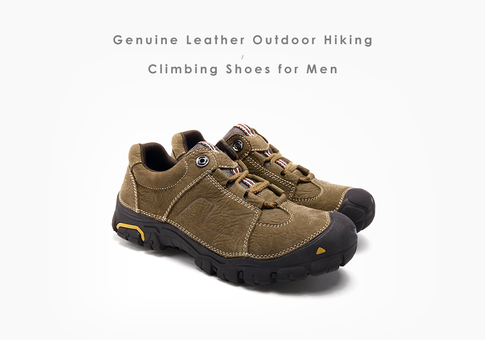 Men Genuine Leather Outdoor Hiking / Climbing Shoes